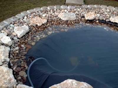 Fiche jardin aquatique for Bache pour bassin auchan